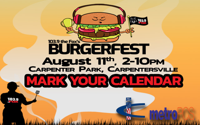 Burgerfest 2018 - August 11, 2018, 2-10pm at Carpenter Park in Carpentersville, IL