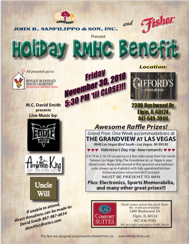 Holiday RMHC Benefit poster
